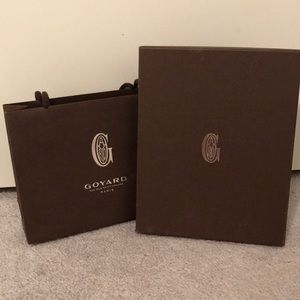 Small Goyard Shopping Bag and Box